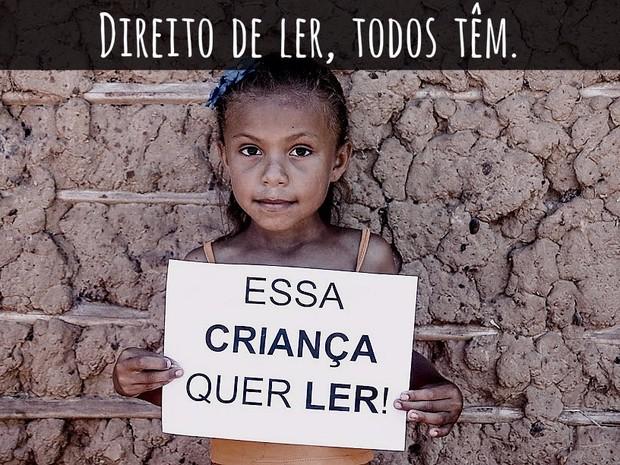 Redes sociais ajudam na divulgação da campanha para construção de biblioteca. (Foto: Divulgação/Flaviane Tajra)