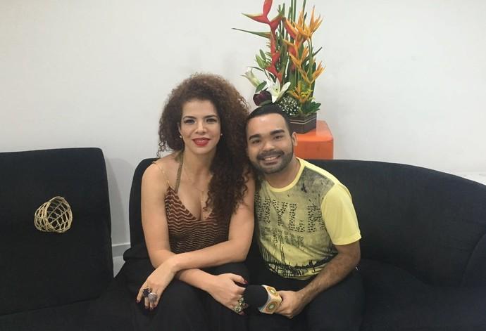 Vanessa Mata conversa com Oyama Filho (Foto: Arquivo Pessoal)