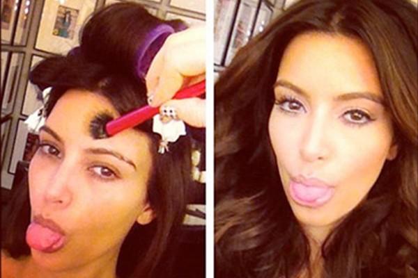 Conhecida por usar edição para sair melhor na foto, Kim Kardashian já arriscou mostrar o rosto ao natural (Foto: Instagram)