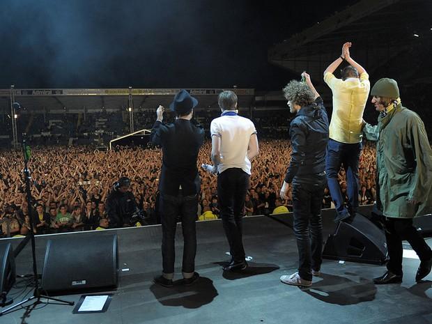 Kaiser Chiefs no Multishow Music Live (Foto: divulgao)