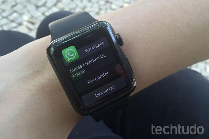 """Abra a mensagem e clique em """"Responder"""" (Foto: Lucas Mendes/TechTudo)"""