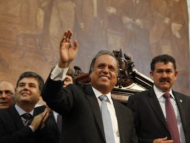 Luiz Fernando Pezão assume o Governo do Estado do Rio (Foto: Pablo Jacob / Agencia O Globo)