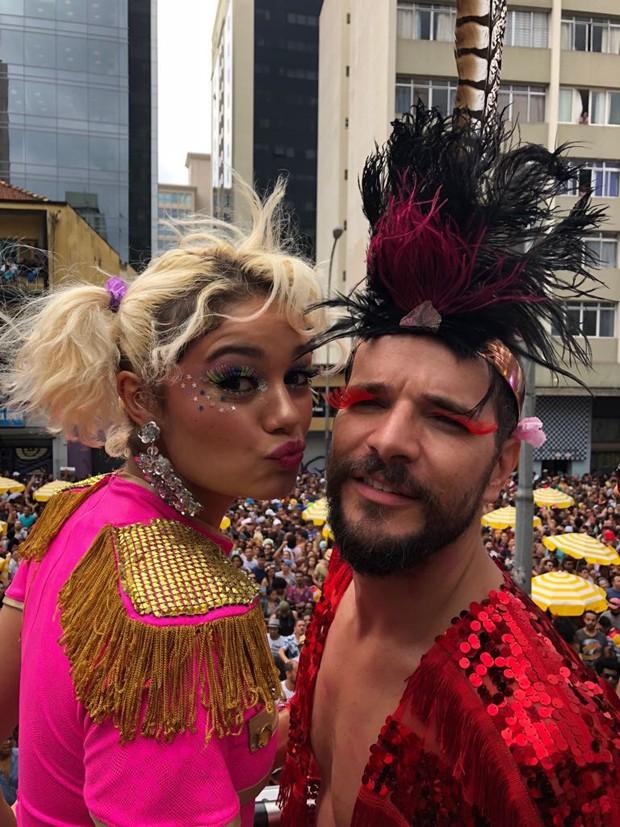 Sophie Charlotte e Daniel Oliveira no Baixo Augusta (Foto: GQ)