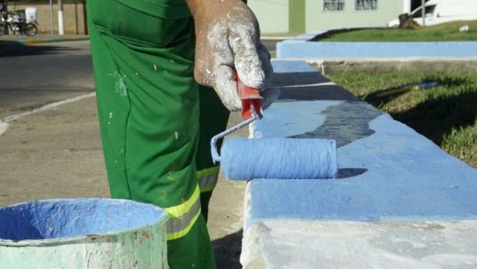 Porto Feliz se pinta de azul e branco para receber Honduras na Copa (Foto: Alan Schneider)