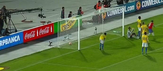Jefferson Brasil Chile Eliminatórias (Foto: Reprodução SporTV)