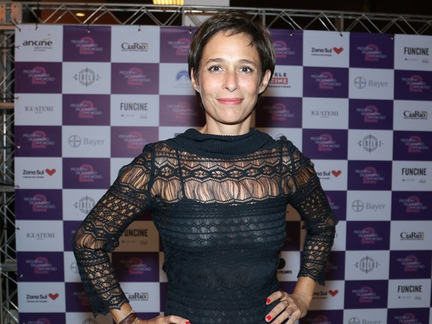 Andréa Beltrão em pré-estreia de filme em São Paulo (Foto: Thiago Duran/ Ag. News)