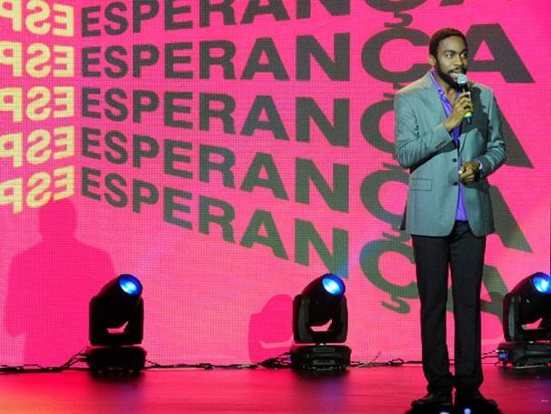 Lázaro Ramos foi um dos apresentadores do Show da Esperança (Foto: Globo/Estevam Avelar)