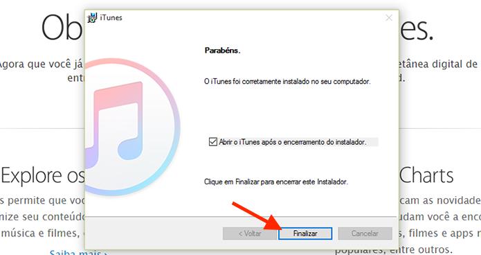 Finalizando a instalação do iTunes (Foto: Reprodução/Marvin Costa)