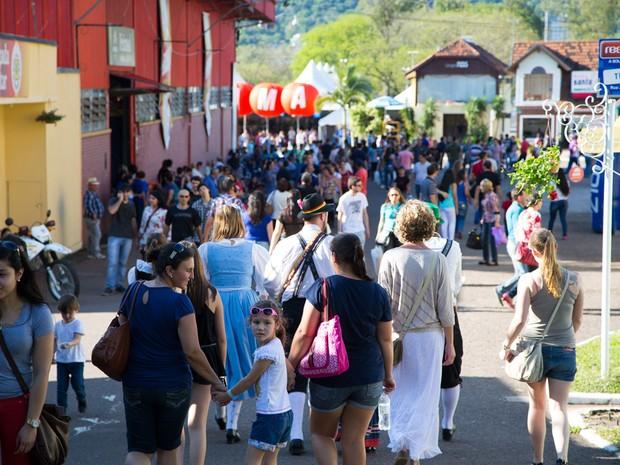 Oktoberfest de Santa Cruz do Sul, RS, terminou neste domingo (Foto: Agência Assmann/Divulgação)