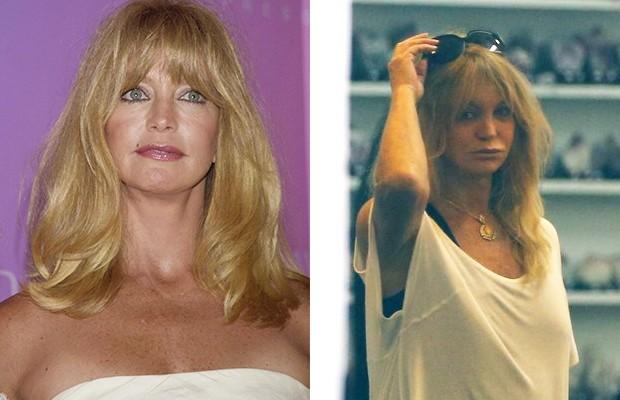 Goldie Hawn - Antes e Depois (Foto: Agência Grosby Group - Gabriel Reis / Agnews)