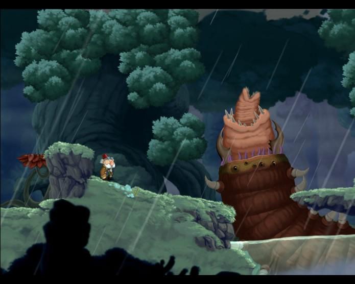 Segundo os produtures de Chronology, o universo do game é inspirado nos desenhos de Hayao Miyazaki (Foto: Reprodução/Daniel Ribeiro)