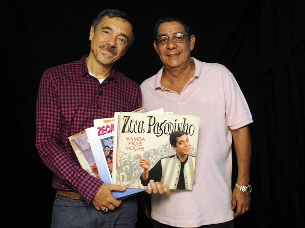 Charles Gavin e Zeca Pagodinho (Foto: Juliana Torres)