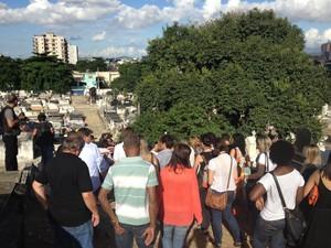 Rio de Janeiro Coronel Paulo Malhães foi enterrado às 15h no Cemitério Municipal de Nova Iguaçu, na Baixada Fluminense (Foto: Arquivo Pessoal/ Manoel Jesus)
