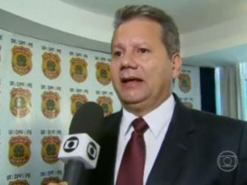 Superintendente regional da PF, Marcelo Diniz, apresentou conclusão do inquérito (Foto: Reprodução/ TV Globo)