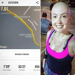 Roberta manteve os exercícios e garante que fizeram bem à saúde (Foto: Arquivo Pessoal)