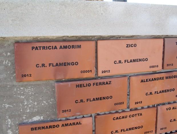 Tijolinho Flamengo Patricio Amorim Zico (Foto: Janir Junior / Globoesporte.com)