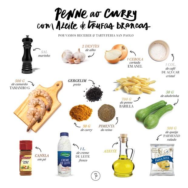 Penne ao curry com azeite de trufas brancas (Foto: Divulgação)