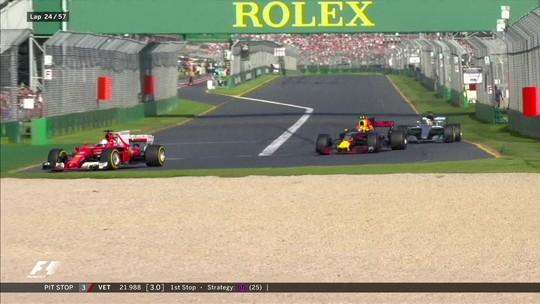 """Derrotado por Vettel, Hamilton assume necessidade de pit stop: """"Estava sem aderência"""""""