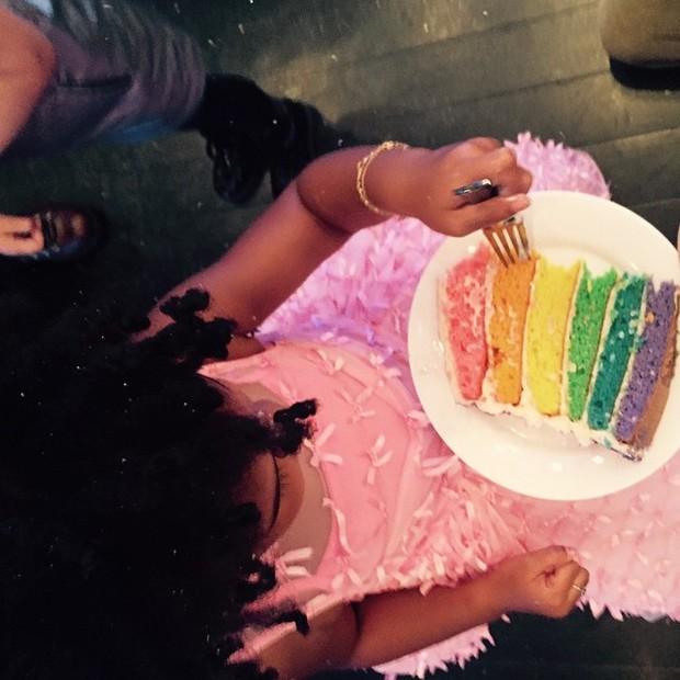 Blue Ivy Carter em sua festa de aniversário de 3 anos (Foto: Instagram/ Reprodução)