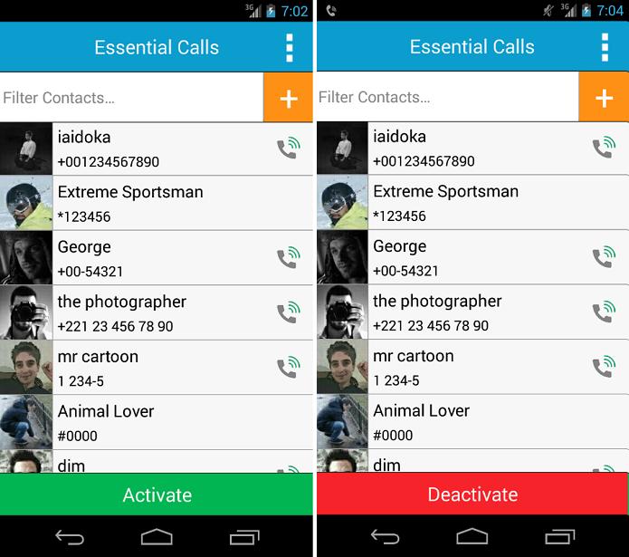 Essential Calls é um app para não perder ligações de contatos importantes (Foto:Reprodução/Essential callas)