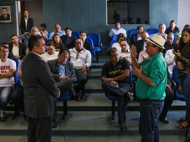Governo e Fórum Sindical realizaram reunião nesta segunda em MT (Foto: Divulgação/Gcom-MT)