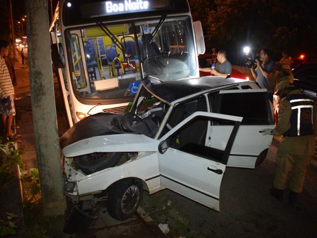 Acidente aconteceu em Nova Mangabeira, na Zona Sul (Foto: Walter Paparazzo/G1)
