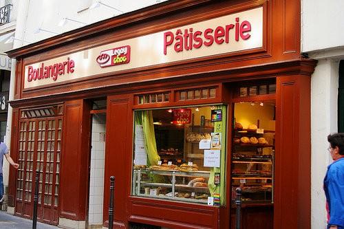 A fachada da boulangerie Legay Choc, no Marais em Paris.