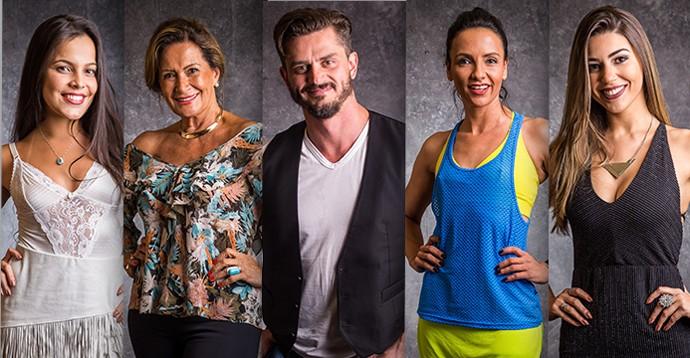 Emilly, Ieda, Marcos, Marinalva, Vivian do BBB17 (Foto: Paulo Beloti/TV Globo)