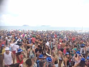 Empolga às 9 lota as areias de Ipanema neste domingo (Foto: Daniel Silveira/G1)