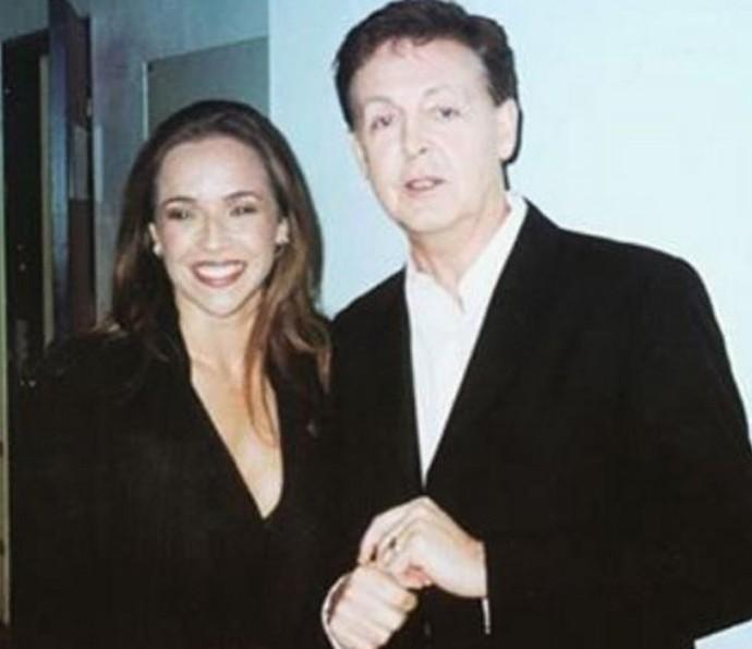Daniela Mercury e Paul McCartney cantaram juntos 'Let It Be' (Foto: Arquivo pessoal)