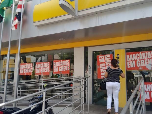 Cerca de 89% das agências da Paraíba aderiram à greve dos bancários, diz sindicato (Foto: André Resende/G1)