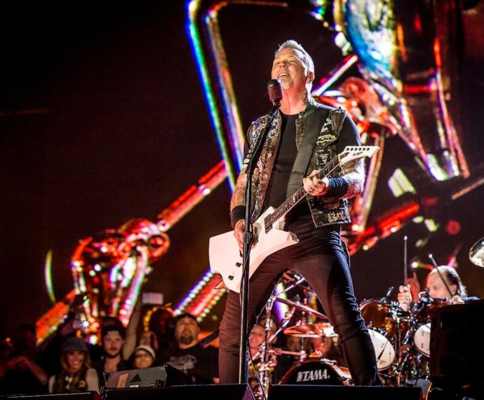 Sócios do Rock in Rio! Metallica, que toca no Rio em setembro, também se apresentou em Las Vegas (Foto: Divulgação)