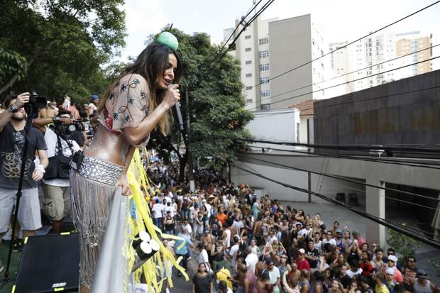 Alinne Rosa arrasa com seu bloco de carnaval em São Paulo (Foto: Felipe Panfili/Divulgação)