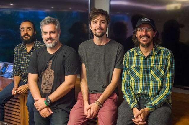 Felipe UFO, André Fran, Michel Coeli e Rodrigo Cebrian (Foto:  Globo/ João Cotta)