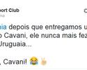 """Íbis zoa e pede desculpa a Cavani por ter dado camisa """"zicada"""" ao jogador"""