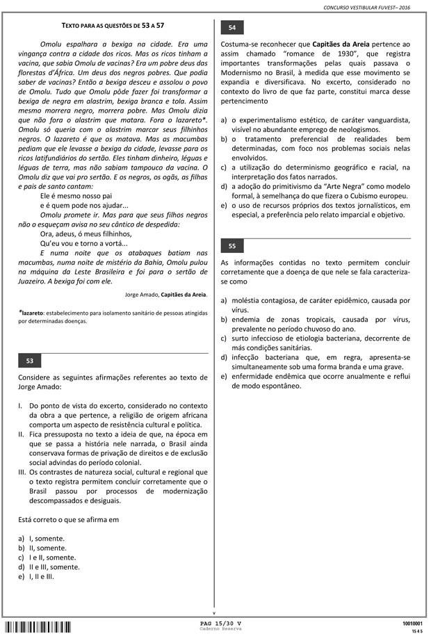 Fuvest - Caderno de Prova - 15 (Foto: Reprodução/Fuvest)