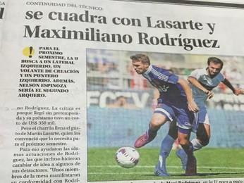 La U quer renovar com Maxi Rodríguez (Foto: Diego Guichard/GloboEsporte.com)