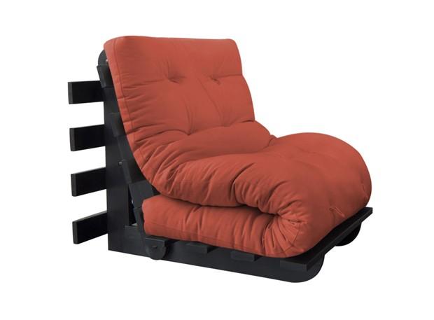 Sofá-cama solteiro, modelo Joy 60, de sarja, da Futon Company (Foto: Divulgação)
