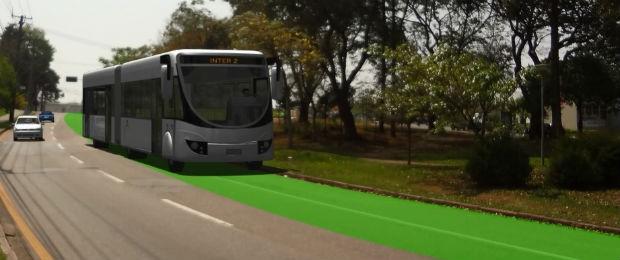 Inter 2 terá pistas exclusivas para circulação (Foto: Divulgação/ Prefeitura de Curitiba)