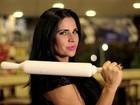 Dia da Pizza: Solange Gomes e Geisy Arruda colocam a mão na massa e criam receitas