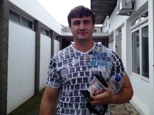 Acho que não dá mais, diz João sobre prova no domingo (27) (Foto: Joana Caldas/G1)
