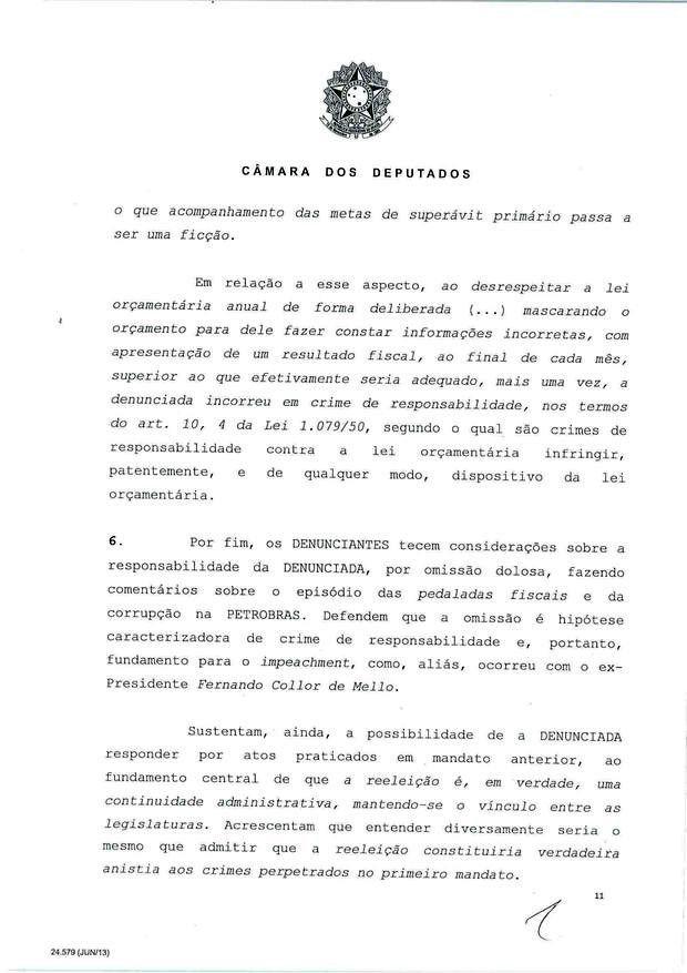 11 - Leia íntegra da decisão de Cunha que abriu processo de impeachment (Foto: Reprodução)