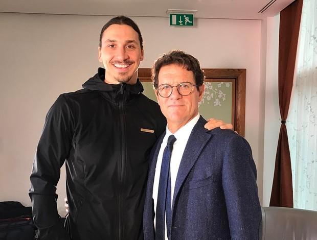 Ibrahimovic e Fábio Capello
