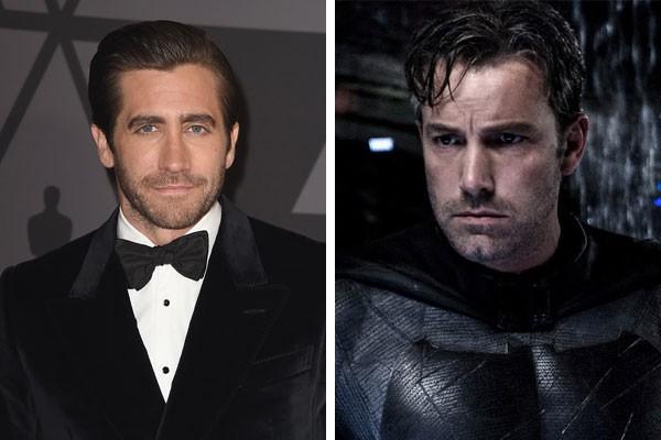 Jake Gyllenhaal e Ben Affleck sob a pele do morcego: quem vai estrelar o filme solo do Batman? (Foto: Getty Images/Reprodução)