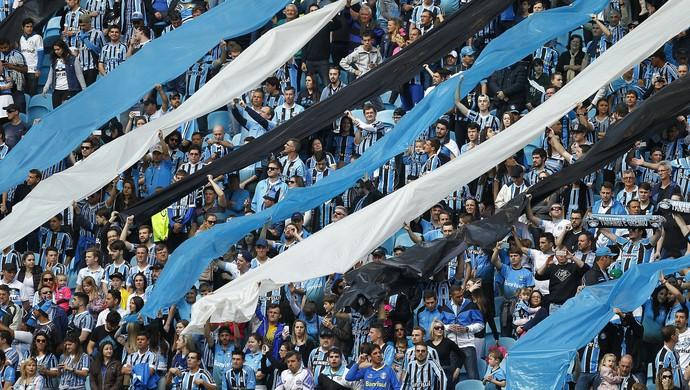 Torcida torcedores gremistas Grêmio Arena do GRêmio (Foto: Lucas Uebel/Grêmio)