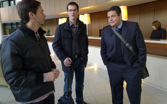 Da esquerda à direita, os procuradores Orlando Martello, Deltan Dallagnol e Eduardo Pelella (Foto: Deborah Berlinck / O Globo)
