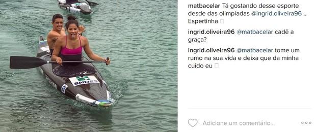 Ingrid Oliveira rebate comentário de seguidor após piadinha (Foto: Reprodução/Instagram)