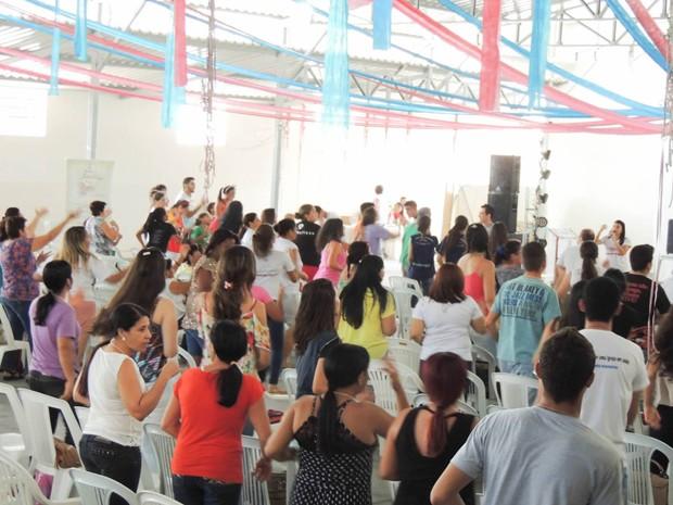 Rebanhão reuniu mais de 300 pessoas este ano (Foto: RCC Diocese Divinópolis/Divulgação)