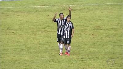 Wilson comemora gol do Operário sobre a Serc no Morenão (Foto: Reprodução/TV Morena)