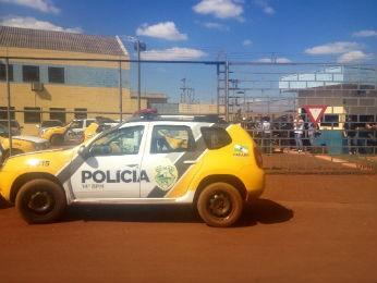 Princípio de rebelião na PEF 2 foi nesta segunda-feira (18) (Foto: Caio Vasques/ RPC TV)
